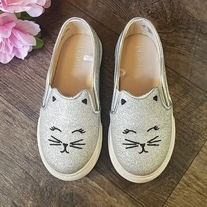 TCP Kitty Cat Kitten Silver Sparkle Girl Shoes 9